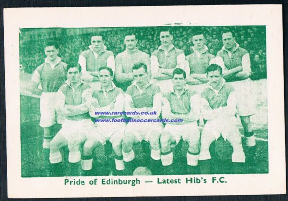 1947 48 Hibs Hibernian team Evening Citizen